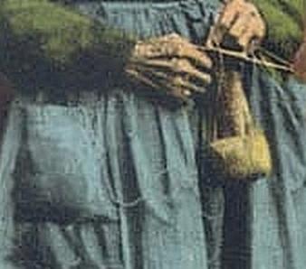 Tricoteuse Auvergnate detail