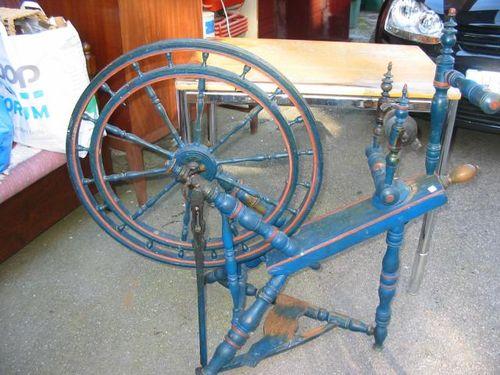 Swedish Wheel fancy blue Spinnrock dubbelhjul