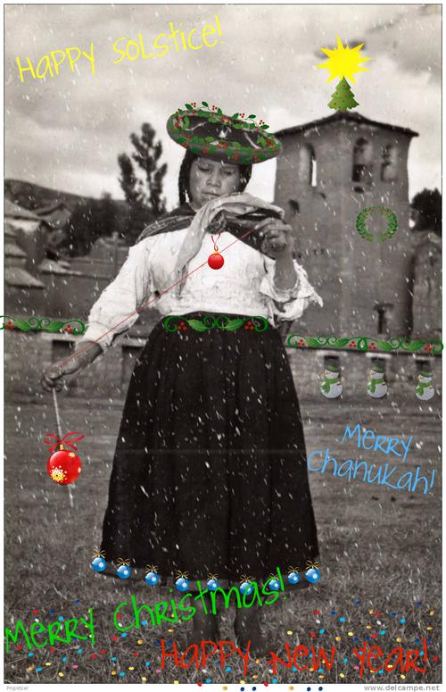 Chinchero Girl Spinning Holiday
