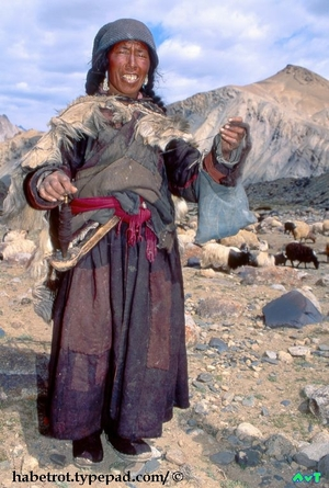 India_ladahk_shepherdess_spinning_w