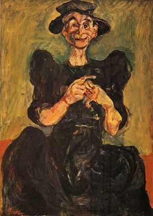 Woman_knittingchaim_soutine