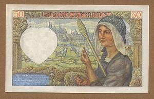 France_50_francs_1942_reverse