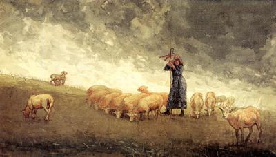 Winslowhhomer_shepherdess_tending_sheep_